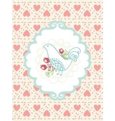 Romantic vintage card vector image