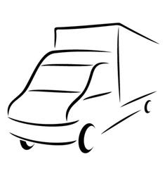 Road transport symbol vector image