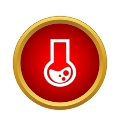 Chemical flask icon simple style vector
