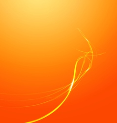 Abstract lines orange background vector