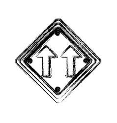 Blurred silhouette diamond shape frame same vector