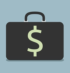 Briefcase with dollar sign vector