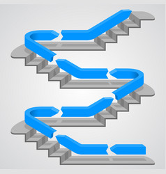 Career path stairs vector