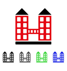 company building flat icon vector image