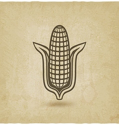 Corn symbol old background vector