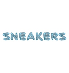 Creative sports poster with sneakers Sportingly vector image vector image