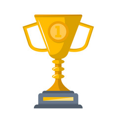 first place golden cup isolated icon vector image vector image