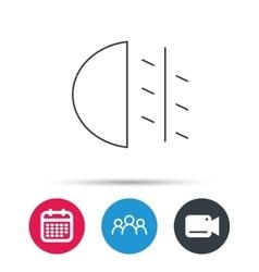 Fog lights icon car beam sign vector