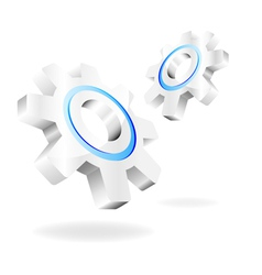 gears on a white background vector image vector image