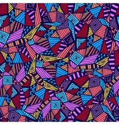 Geometric ethnic pattern vector image