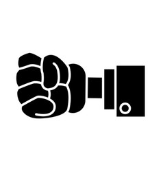 glove hand clenched vector image vector image