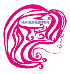 Hairdresser salon logo vector