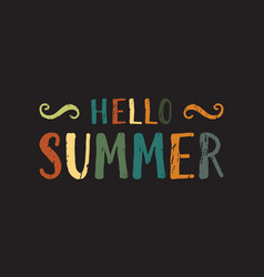 Hello summer inscription vector