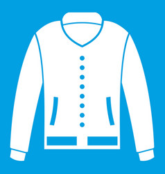 Jacket icon white vector