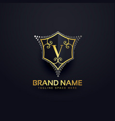 Letter v logo design template vector