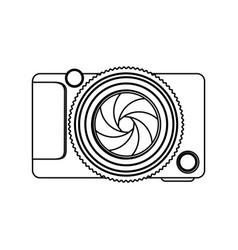 Monochrome contour of analog camera vector
