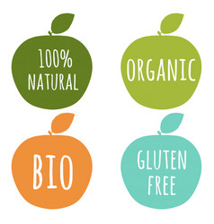 natural labels set vector image