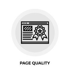 Page Quality Line Icon vector image
