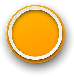 Paper white-orange round speech bubbles vector image