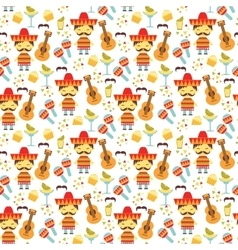 Seamless pattern with traditional mexican vector
