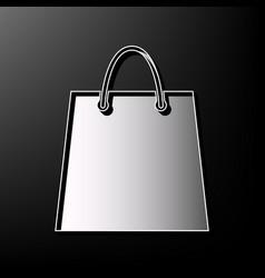 Shopping bag gray 3d printed vector