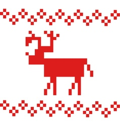 simple deer vector image