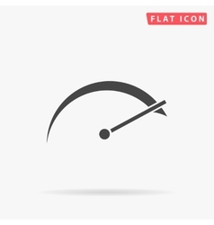 Tachometer simple flat icon vector