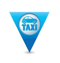 taxi icon map pointer4 blue vector image vector image