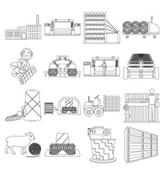 Textiles industry factory and other web icon in vector