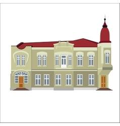 vintage historical building vector image vector image
