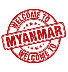Welcome to myanmar vector