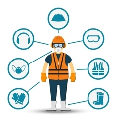 Worker health and safety vector