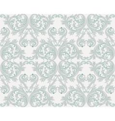 Damask floral ornament pattern vector
