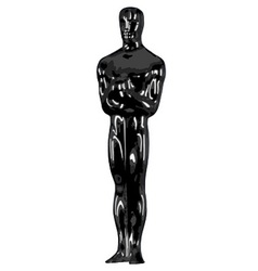 Black oscar vector