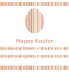 Postcard with easter egg on colorful eps 8 vector