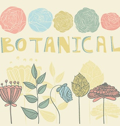 Botanical vector