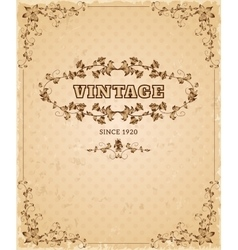 Ornate retro vintage poster vector