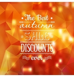 Vintage bright Fall Sale background vector image