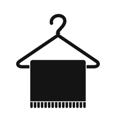 Scarf on coat-hanger icon vector