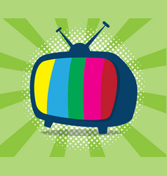 abstract television icon with half tone background vector image vector image