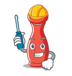 Automotive pepper mill character cartoon vector