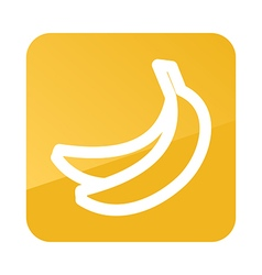 Banana outline icon Tropical fruit vector image vector image