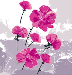 beauty as flowers vector image vector image