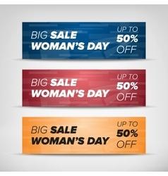 Big sale horizontal banners vector image