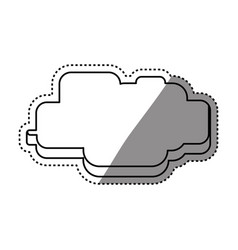 Cloud pixelated videogame vector