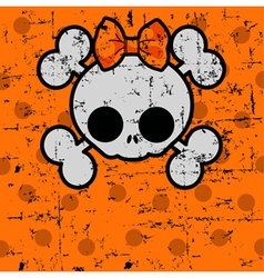 cute halloween skull vector image