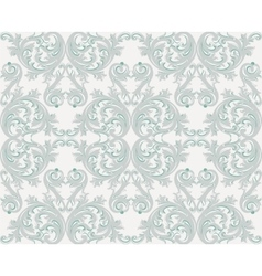 Damask floral ornament pattern vector