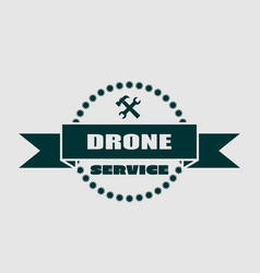 drone quadrocopter emblem drone and service text vector image vector image