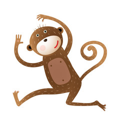 Funny monkey animal cartoon vector