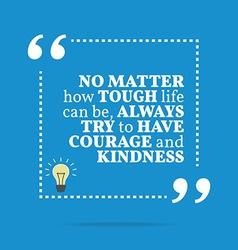Inspirational motivational quote no matter how vector